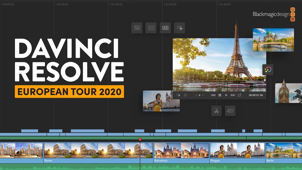 DaVinci Resolve European Tour 2020: Στις 3 Μαρτίου στον Πειραιά με δωρεάν είσοδο